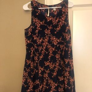Floral empire mini dress